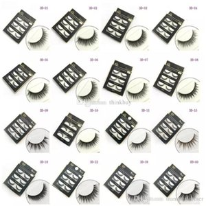 new 3D Mink Hair False eyelashes 16 Styles Handmade Beauty Thick Long Soft Mink lashes Fake Eye Lashes Eyelash Sexy aa201-208 2018010601