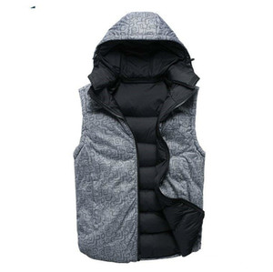 Fashion-Fall-Factory direct sales 90% white duck down Coat Men NF down Vest collar men's cultivate one's morality Down sleeveless jacket
