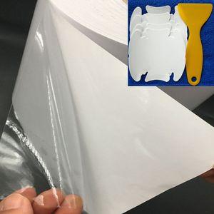 40CM * 500CM Rhino 피부 보호 필름 차 범퍼 두건 페인트 보호 고품질 비닐 명확한 Transparence 필름 반대로 찰상