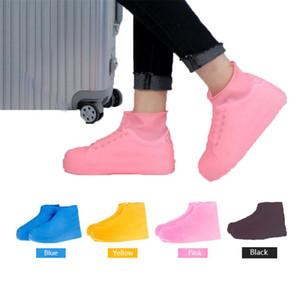 Sapatos à prova de água Tampa Verão antiderrapante Chuva sapatos Botas Capa Latex Rainproof antideslizantes que joga a água Shoes Capa