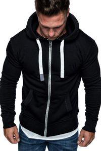 Männer Hooded Zipper Cardigan Langarm Samt Pullover Plus Size Solid Color Taschen Tunnelzugverschluss für Männer Jacke
