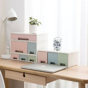 OTHERHOUSE Desktop Drawer Cabinet Sundries Storage Stationery Case Makeup Organizer Jewelry Box Cosmetic Container Y200628