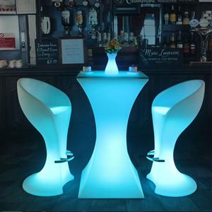 Modern stili LED ışık kokteyl masa Şarj edilebilir çubuğu Tablo Su geçirmez Sehpa Bar KTV Parti Tedarik kadar ışıklı