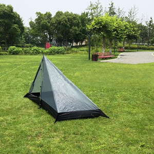 Rodless tent portable camping pyramid tent single ultra light waterproof outdoor survival mountain climbing adventure outdoor camping suppli