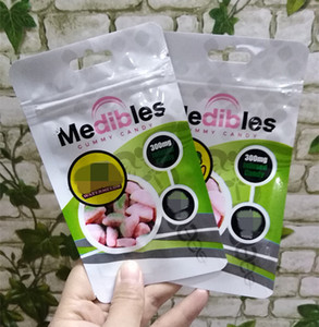 comestíveis vazios Goma de retalho Medibles saco de embalagem de mylar cheiro de plástico à prova de bolsa ziplock 7 estilo 2020 quente