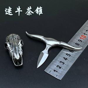 Nuovo D2 Lama Mini spinta coltello tè testa di bue di campeggio esterna della tasca EDC lama tattica di sopravvivenza della collana di BM42 BM31 BM 535 micro coltello