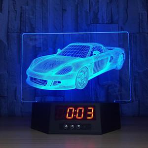 3D ضوء الليل سيارة رياضية ملونة الرؤية LED 3D بقيادة مصباح مكتبي بطارية 787 ضوء مصباح الاكريليك لطيف مصباح ليلة نوم الهدايا الخفيفة للأطفال