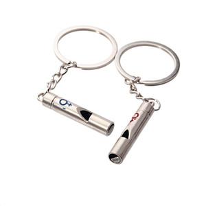 Metall Paar Pfeife Schlüsselanhänger Schlüsselanhänger Outdoor Sport Camping Jagd Überleben Sicherheit Werkzeugtasche Auto Schlüsselanhänger Zubehör Geschenk DBC DH1216