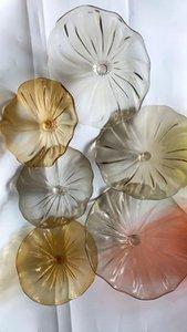 Hand Blown Glass Hanging Art Creative Glass Wall Plates Hand Blown Hanging Wall Plates