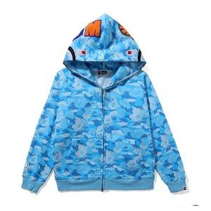 2020 Горячих Продают Мужского A Bathing Ape Head Толстовка Bap Shark Head PrintJaw вскользь толстовка куртка пальто фуфайка свитер