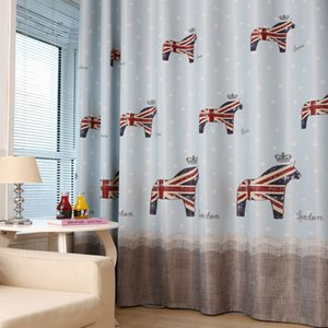 Modern garden children boys and girls Korean pony curtains blackout cloth living room bedroom curtains tulle can be customized