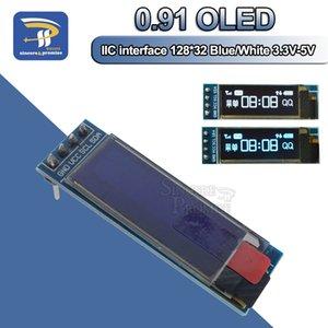 """0.91 بوصة 12832 الأبيض والأزرق اللون 128x32 أوليد شاشة lcd led وحدة الشاشة 0.91 """"iec التواصل 3.3 فولت -5 فولت لاردوينو بيك"""