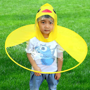 Baby Rain Coats Cover Creative UFO Rain Poncho Kids Raincoat Funny Foldable Raincoat Umbrella Poncho Hands Free Rainwear Waterproof Rain