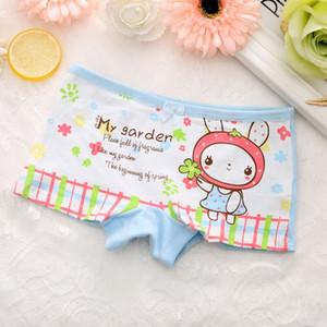4pcs lot Girls Underwear Briefs Panties Cartoon Kitty Bunny Baby Kids Panties Wholesale Shorts for Children underpants cotton