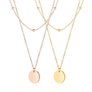 New Arrival Beautiful Girls Child Women Layered Necklaces Pendant Gold Color Stainless Steel Fashion jewelry