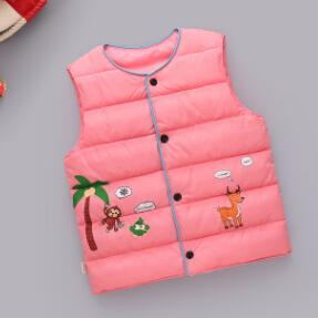 Baby Boy Girl Vest Children Outerwear Clothing Toddler Girl Padded Warm Winter Down Waistcoat Autumn Kids Boy Girl Print Clothes