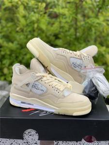 Hot Off autentici 4 SP WMNS Vela Crema Bianco Basketball Shoes Retro mussola-bianco-nero Uomo Donne Sneakers con la scatola CV9388-100