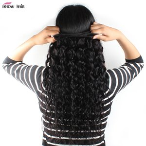 2018 New Arrival Products 10A Brazilian Peruvian Malaysian Indian Virgin Remy Hair 3Bundles Water Wave Human Hair Extensions Naturan Color