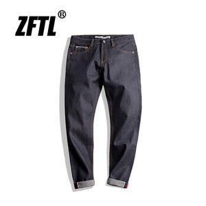 ZFTL Mens Vintage Jeans Classic Slim Fit Straight uomo Jeans Indigo Denim Selvedge