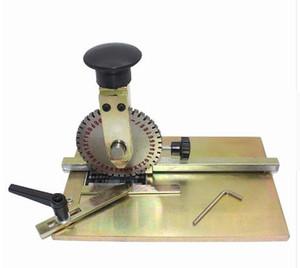 Manuel Işaretleme Makinesi Deboss Kabartma Makinesi Köpek Etiketi Metal Plaka Damgalama Embosser ile 4mm Baskı whee