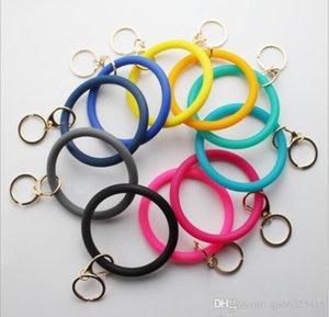 Silicone Teething Bijoux porte-clés O Bracelet Cercle Porteclés Bracelet Bracelet Porte-clés, FoodKeychainBracelet clé RingFashion JHMY Keyring