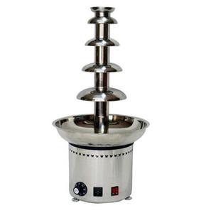 Edelstahl-5-Schicht-Schokoladen-Brunnen in voller Schokolade Wasserfall Maschine CE Standard-Schokolade Making Machine