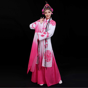 Femme Manches Longues Costumes de Danse National Opera Opera Chinese Stage classique portent Hanfu Princesse Robe Ancienne Fée Cosplay