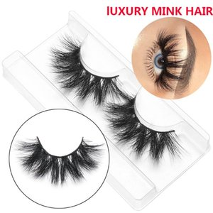 1 paire de 20 mm 3D 100% Mink Faux Cils Criss-cross Mink Lashes Faux Cils main Cils dramatique Outils de maquillage