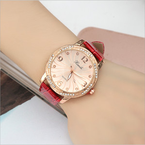New Arrivals Time-limited Big Sales Woman Designer Watch Leather Watch Diamond Dial noble female models simple quartz watch students