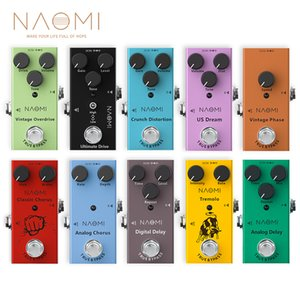 NAOMI Electric Guitar Effect Pedal Vintage Overdrive  Phase  Overdrive  Crunch Distortion  US Dream  Tremolo  Chorus  Delay