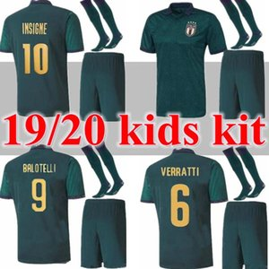 new KIDS kit 2019 2020 italy third soccer jerseys Italia Cup 19 20 Itália maglie da Verratti Jorginho adult set football shirts