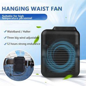 Colgando de la cintura del ventilador USB recargable de la tirilla de Lazy cuello de manos libres colgando manos libres Mini naturaleza fuerte viento de escritorio del ventilador de refrigeración