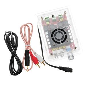 Модуль усилителя Усилитель плата TDA7498 Digital Power 12-32V DC High Power 100W + 100W усилитель мощности с защитным чехлом и провода