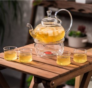 XMT-HOME Teapot stand with candle tea warmer flower jasmine tea stove pot kettle heating candles