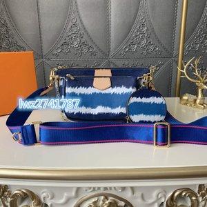 kutu ile yeni varış popüler gökkuşağı tarzı sıcak satış seri numarası içine kadın çantası omuz çantası çanta Üç parçalı kombinasyonu torbaları
