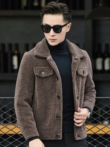 Winter Jacket Men Real Fur Coat Sheep Shearling Real Wool Coat Men Clothes 2020 Casual Suede Leather Jacket Plus Size 4xl 110713
