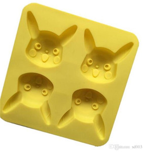 Kalıpları 4 Izgara hayvan silika jel Manuel Sarı yaratıcı kalıpları DIY fırında Kek kalıp Fabrika doğrudan satış 5 1xw p19