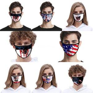 На складе Donald Trump Дизайнер Luxury многоразовый моющийся хлопчатобумажной ткани моды рот Face Mask США Женщина Мужчины UniSex 17 Стили голодает корабль # QA876