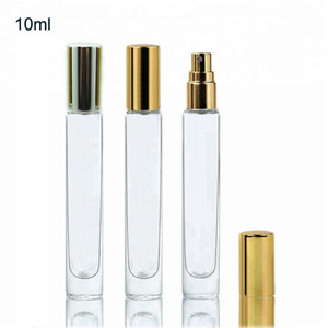 100pcs lot 10ML Perfume Bottles ClearThick Glass Spray Bottles With Aluminum Atomizer Empty Cosmetic Case
