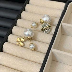 New Geometric Pearl Women Classic Stud Earrings Pearl Earrings Female Fashion Earrings Female Jewelry