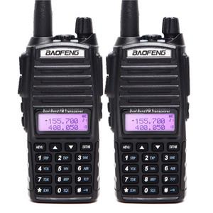 2PCS Walkie Talkie BaoFeng UV82 Çift Bant 136-174 / 400-520MHz FM Ham Çift PTT Baofeng UV 82 UV82 iki yönlü telsiz