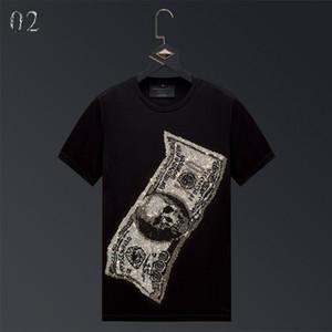 캐주얼 럭셔리 핫 라인 석 남성 디자이너 T 셔츠 짧은 소매는 편안한 머서면 티 여름 탑