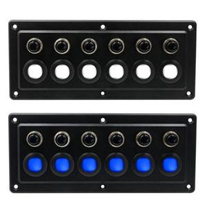 6 Muda Touch Control Panel Caixa RV Carros Marines Navios Painel Touch Screen impermeável com sobrecarga Protector 12V LED 24V