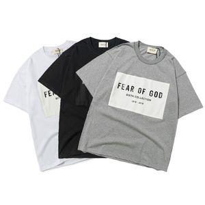 2020 Mens Designer T-shirt FOG ESSENTIALS Shirt Summer Fashion Women Letter Print Brand Short Sleeve Top High Street Tide Style
