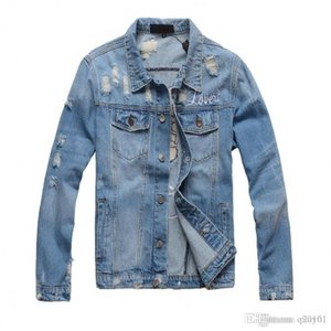 2018 New motorcycle Letter printing denim jacket high fashion designer famous bomber Denim Slim windbreaker jacket Mens jean clothing