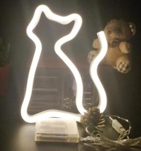 LED Neon Night Kinderzimmer LED Tischlampe Rainbow Neon Nachtlicht für Bar Schlafsaal Dekoration