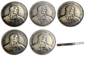 Suisse (Confédération) 1937-1954 5 pièces Argent 5 Francs (5 Francs) Copie Diamètre de la pièce: 31.45mm