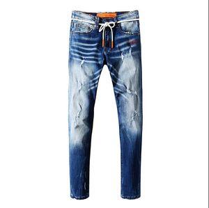 Venda quente 19ss New Mens Jeans Mens marca de jeans da motocicleta Street Fashion Hip hop jeans de alta qualidade