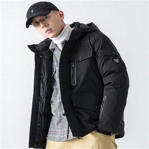 MULIT Карманы Mens конструктора хлопка проложенных куртки Мода Zipper Щитовой Mens с капюшоном хлопка куртка Casual Мужчина Одежда