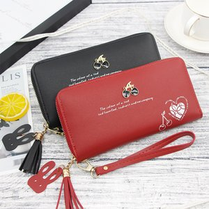 New Korean Version of The 2019 Ladies' Long Purse Is Multi-functional and Large-capacity Zipper Clutch for Ladies